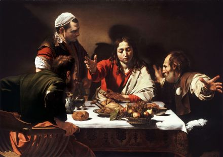 Caravaggio, Michelangelo Merisi da: Supper at Emmaus. Fine Art Print.  (0024)